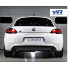VWR Scirocco R Rear Double Exit Rear Exhaust System  (Cat-Back)